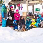 Laste sünnipäev talvel